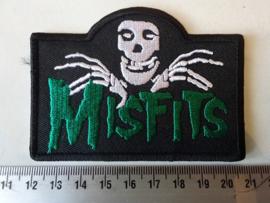 MISFITS - GREEN NAME + SKULL ( SHAPED )