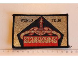 SCORPIONS - WORLD TOUR ( GOLD GLITTER ) ORIGINAL WOVEN