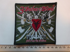 3 INCHES OF BLOOD - FIRE UP THE BLADES ( BLACK BORDER ) WOVEN