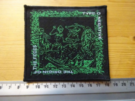 TYPE O NEGATIVE - THE ORIGIN OF THE FECES ( BLACK BORDER ) WOVEN