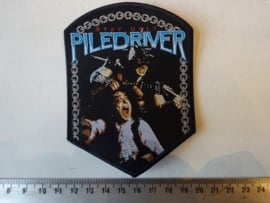 PILEDRIVER - STAY UGLY ( BLACK BORDER ) WOVEN