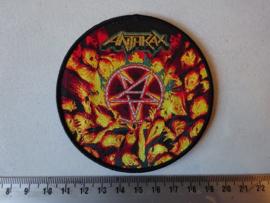 ANTHRAX - WORSHIP MUSIC ( BLACK BORDER ) WOVEN