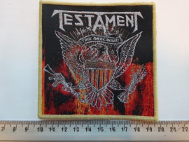 TESTAMENT - TRUE AMERICAN HATE ( BROWN BORDER ) WOVEN