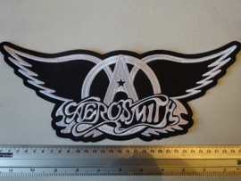AEROSMITH - WHITE LOGO + WINGS