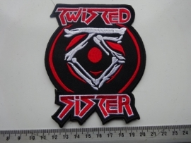 TWISTED SISTER - RED/WHITE LOGO + BONES