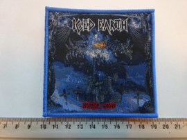 ICED EARTH - HORROR SHOW ( BLUE BORDER ) WOVEN