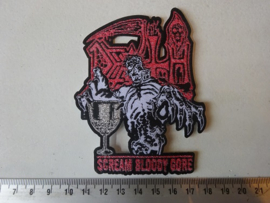 DEATH - SCREAM BLOODY GORE ( WOVEN ) NUMBERED COPIES.