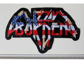 LIZZY BORDEN - US FLAG NAME LOGO