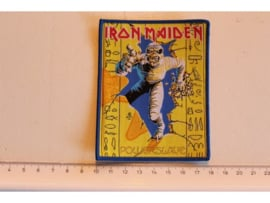 IRON MAIDEN - POWERSLAVE ( BLUE BORDER ) WOVEN 1