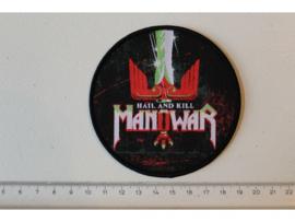 MANOWAR - HAIL AND KILL ( BLACK BORDER ) WOVEN