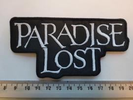PARADISE LOST - WHITE NAME LOGO