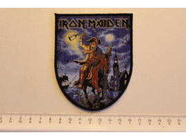 IRON MAIDEN - HERE COMES THE BRITAIN ( BLACK BORDER ) WOVEN