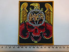SLAYER - EAGLE/SKULL ( BROWN BORDER ) WOVEN