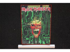 IRON MAIDEN - VIRUS ( RED BORDER ) WOVEN