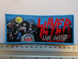 SLAYER - LIVE UNDEAD ( BLUE BORDER ) WOVEN