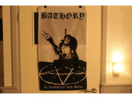 BATHORY - IN CONSPIRACY WITH SATAN ( WHITE )