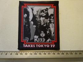 KISS - TAKES TOKYO '77 ( BLACK BORDER ) WOVEN