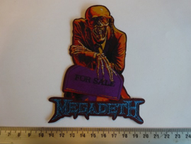 MEGADETH - FOR SALE.. BUT WHO'S BUYING ( LASERCUT ) WOVEN