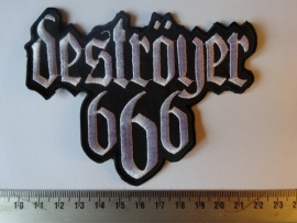DESTROYER 666 - WHITE LOGO ( SHAPED )