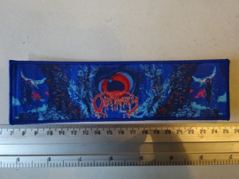 OBITUARY - CAUSE OF DEATH STRIPE BLUE BORDER ( LIMITED RARE NUMBERED )
