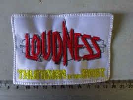 LOUDNESS - THUNDER IN THE EAST ( WHITE BORDER )