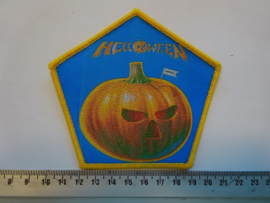HELLOWEEN - PUMPKIN ( YELLOW BORDER ) WOVEN