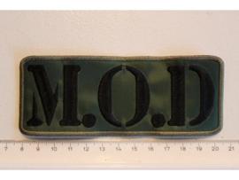 M.O.D. - BLACK/GREEN NAME LOGO