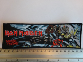 IRON MAIDEN - THE NUMBER OF THE BEAST  ( BLACK BORDER ) WOVEN STRIPE