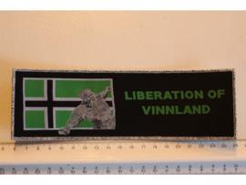 TYPE O NEGATIVE - LIBERATION OF VINNLAND ( SILVER BORDER ) WOVEN STRIPE