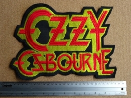 OZZY OSBOURNE - RED/YELLOW LOGO