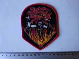KING DIAMOND - FLAMED LOGO ( WOVEN )