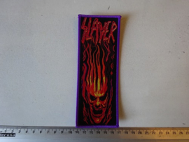 SLAYER - FLAMED HEAD ( WOVEN )
