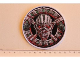 IRON MAIDEN - THE BOOK OF SOULS ( WHITE BORDER ) WOVEN 1