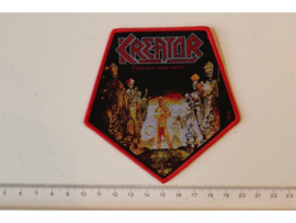 KREATOR - TERRIBLE CERTAINTY ( RED BORDER ) WOVEN