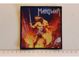 MANOWAR - LIVE AT MONSTERS OF ROCK ( BLACK BORDER ) WOVEN