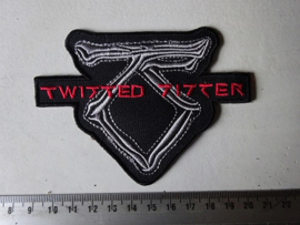 TWISTED SISTER - GREY/RED NAME LOGO + BONES