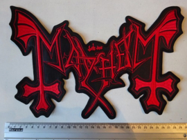 MAYHEM - RED SHAPED LOGO