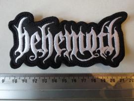 BEHEMOTH - WHITE SHAPED LOGO