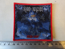 ICED EARTH - HORROR SHOW ( RED BORDER ) WOVEN