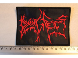 DYING FETUS - RED NAME LOGO ( NON SHAPED )