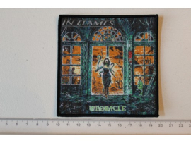 IN FLAMES - WHORACLE ( BLACK BORDER ) WOVEN