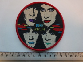 KISS - ASYLUM ( RED BORDER ) WOVEN