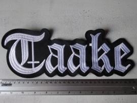 TAAKE - WHITE LOGO
