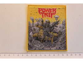 POWER TRIP - OPENING FIRE: 2008 - 2014 ( YELLOW BORDER ) WOVEN