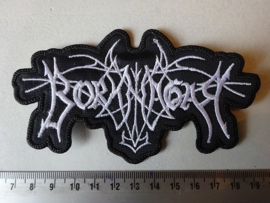 BORKNAGAR - WHITE NAME LOGO ( SHAPED )