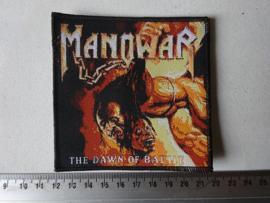 MANOWAR - THE DAWN OF BATTLE ( BLACK BORDER ) WOVEN