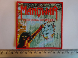 MANOWAR - THE HELL OF STEEL ( RED BORDER ) WOVEN