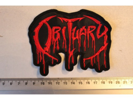 OBITUARY - RED NAME LOGO