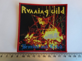 RUNNING WILD - BRANDED AND EXILED ( RED BORDER ) WOVEN