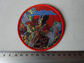DOKKEN - BEAST FROM THE EAST ( RED BORDER ) WOVEN